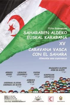 cartel Caravana Vasca en apoyo al Sahara